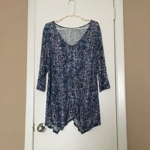 Rose & Olive  Blue And White Blouse
